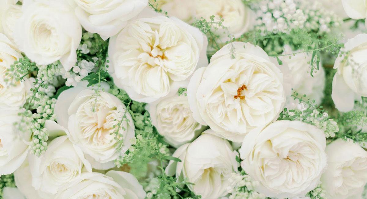 A City Wedding with David Austin Wedding Roses